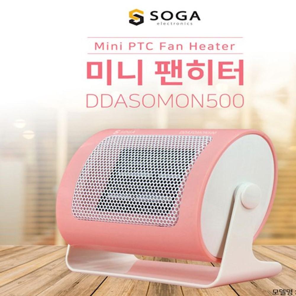 툴콘 소가 팬히터 미니온풍기 TP-500P 핑크 계절가전 소형팬히터 사무실온풍기 noaq, 상세페이지참조()