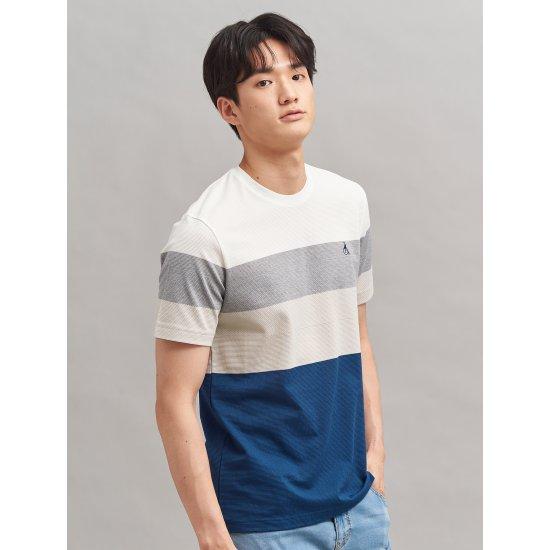빈폴 [빈폴] 화이트 에어 모던 피케 컬러 블록 티셔츠 (BC0342A241)