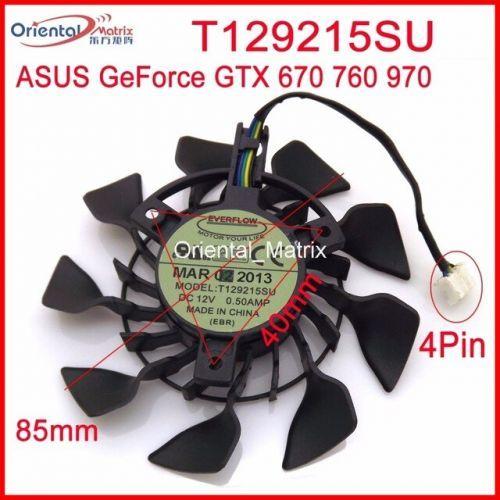 [해외] T129215SU 12 볼트 0.5A 85 아수스 GTX670 GTX760DCMOC2GD5 GTX 970 미니 그래픽 카드 쿨러 냉각 팬, 상세내용표시