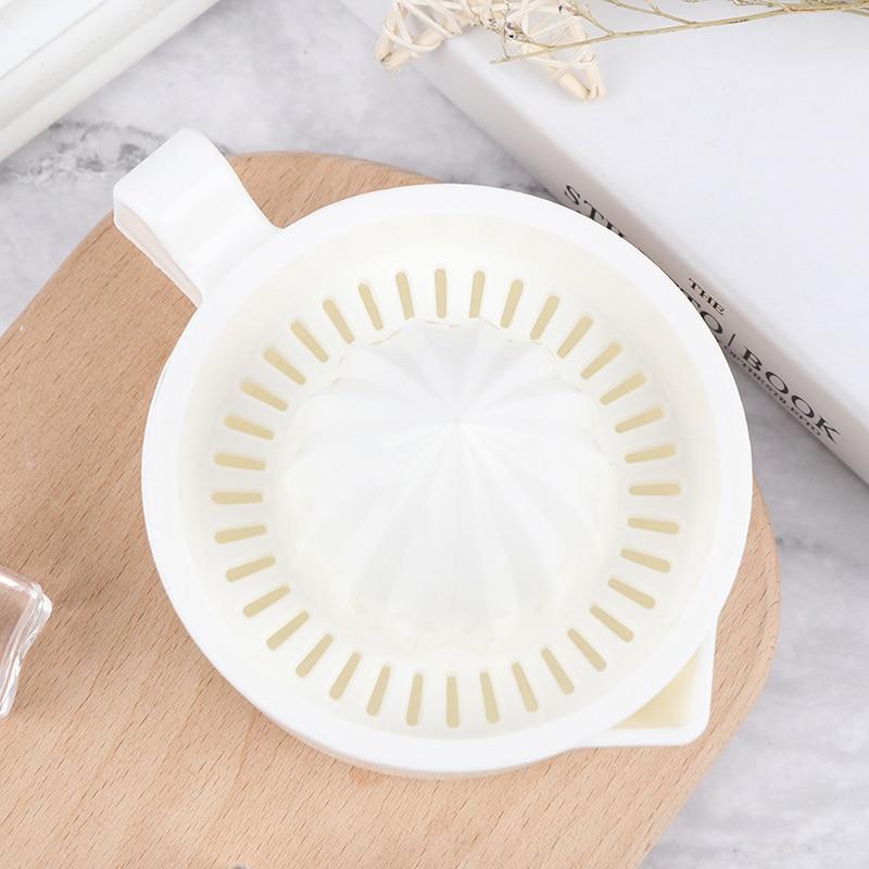 1Pcs 주방 액세서리 수동 플라스틱 과일 도구 오렌지 레몬 압착기 Juicer 기계 휴대용 감귤류 Juicer|기구 세트|, 1개, 단일