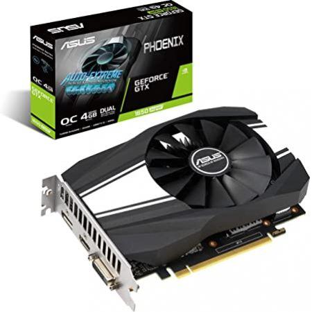 ASUS GeForce GTX 1650 Super Overclocked 4GB Phoenix Fan Edition HDMI DP DVI Graphics Card (PH-GTX16, 상세 설명 참조0