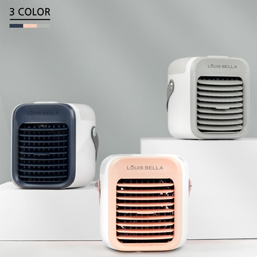 캠핑용 미니 냉풍기 탁상용 미니 냉풍기 물을 이용한 기화 냉각 시스템, 네이비 (POP 5761111540)