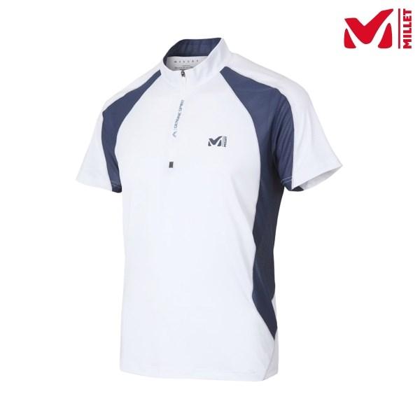 밀레 남성 아이언2 집업 티셔츠 MVMUT451 WHI