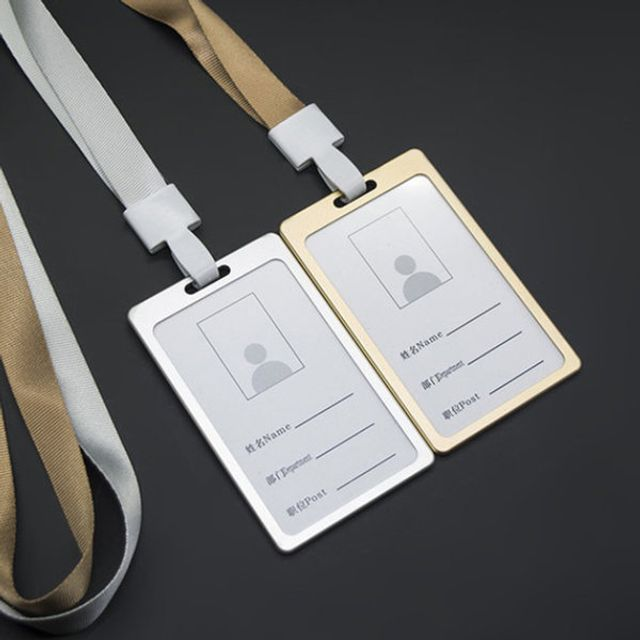 ksw56444 세로형ID카드케이스카드홀더목줄홀더핸드폰줄, 1, 세로형ID카드케이스(BL00138)-골드