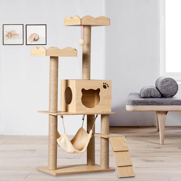 그네 원목 캣타워 캣폴 고양이 용품 놀이터 해먹 침대, M015 밀도 밴드 레이스