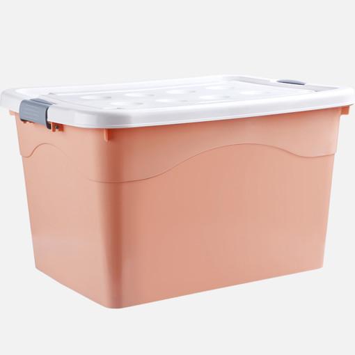 대용량 리빙박스 1+1 대형 수납함 정리함 Opl, 핑크-120L+120L