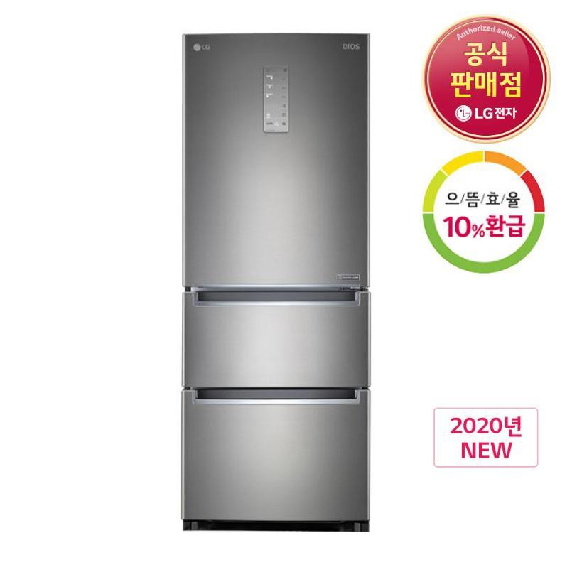 [으뜸효율 10%환급대상] LG전자 디오스 K334S11E 스탠드형 김치냉장고, K334S11E.AKOR