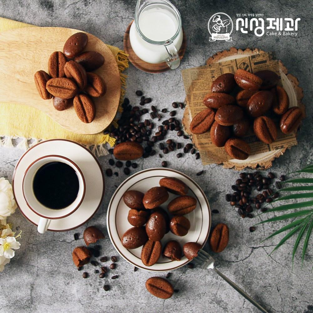[신성제과] 디저트 커피콩빵 200g(기본 아이스박스 배송), 200g(20개입)