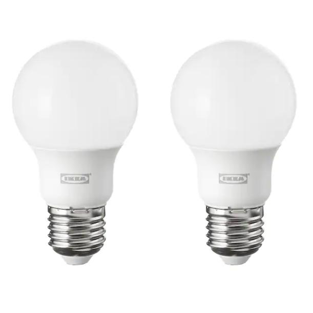 이케아 뤼에트 LED전구 E26 600루멘, 2개입, 백색