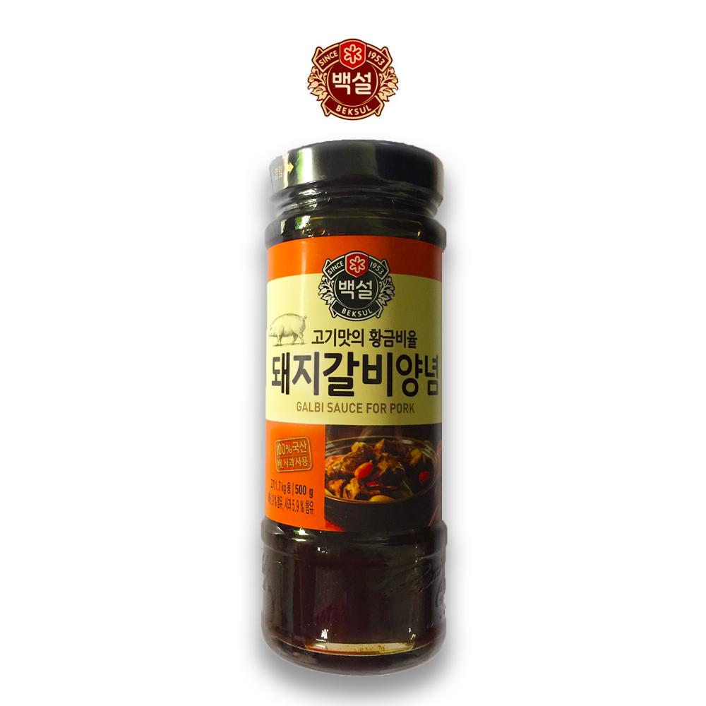 예이니식품 CJ 백설 돼지갈비 양념 1개(500gx1개) 여행간편요리소스조림볶음, 500g, 1개