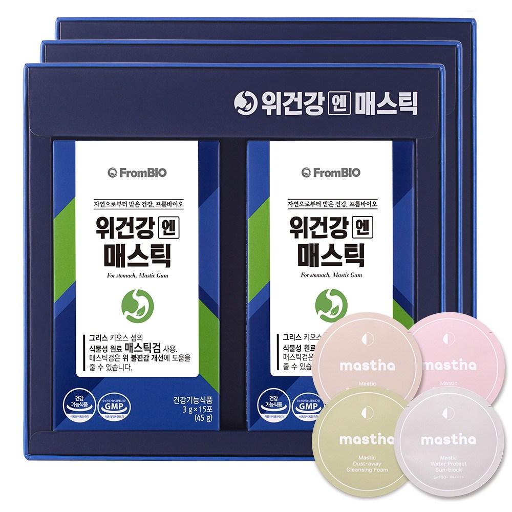 프롬바이오 이병헌의 위건강엔 매스틱+매스티나 샘플증정, 90포, 3g