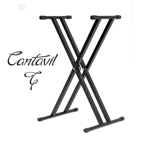 칸타빌 피아노 전자키보드 스탠드 의자 헤드폰 서스테인 페달 소품, 2. CKS-200 쌍열스탠드 블랙