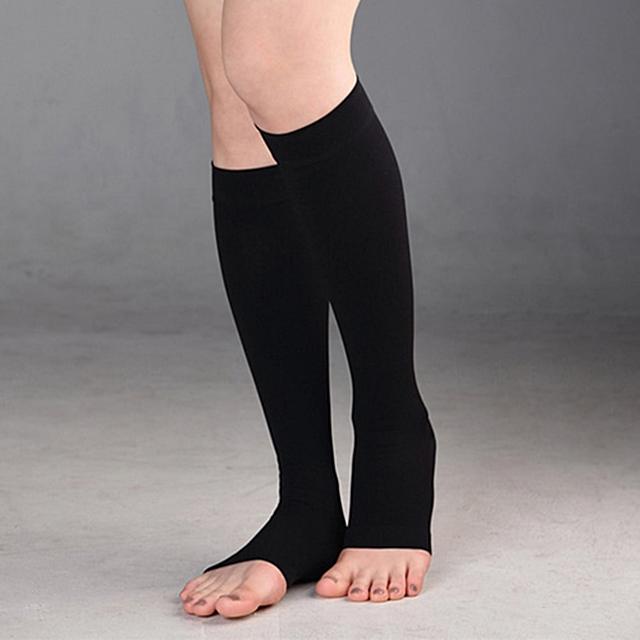 원더워크 의료용 압박스타킹 무릎형 발트임 블랙 - 중강약 20~30mmHg, 1개