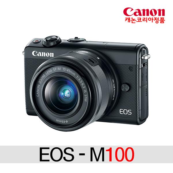 캐논 EOS M100+15-45mm KIT 미러리스카메라, M100+15-45 KIT(블랙)+2번패키지