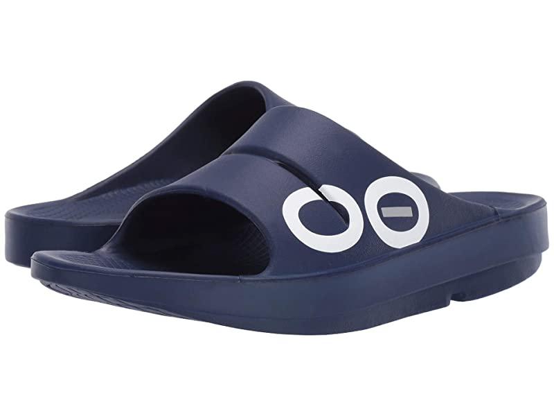 [미국정품] 341953 우포스 남성 슬리퍼 OOFOS OOahh Sport Sandal - Navy/Navy