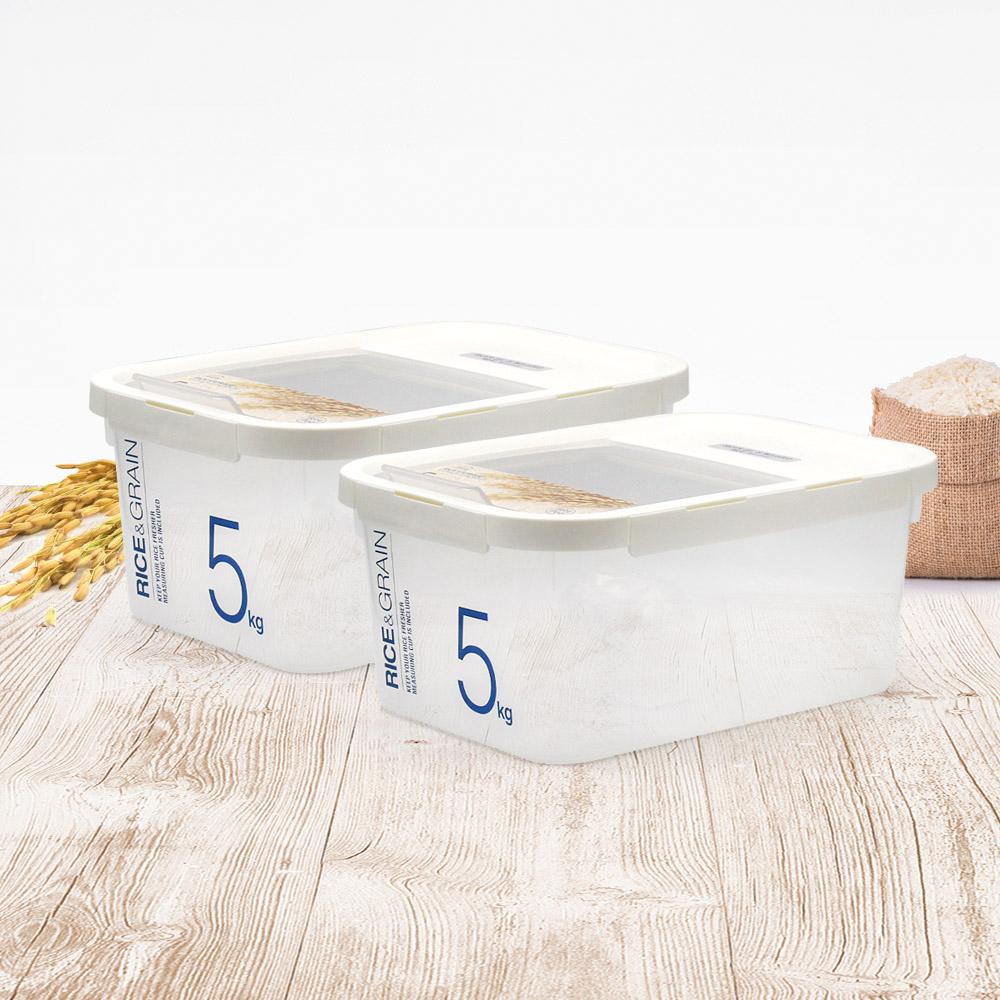 락앤락 제습 쌀통 5kg x 2개 (계량컵+제습제) 쌀보관