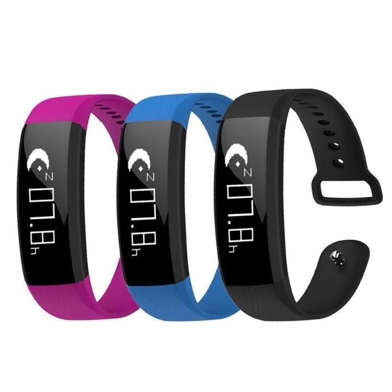 Vanpower M89 Bluetooth 4.0 Smart 팔찌 보수계 Blood Pressure Monitor Real-time Heart Rate Monitor 방수 Smart Band, 단일, Black