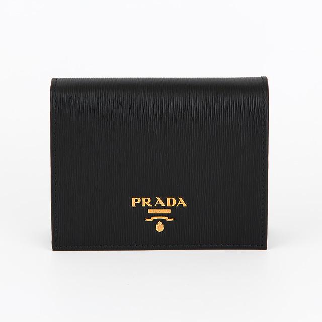 프라다 1MV204 블랙 비텔로무브 반지갑
