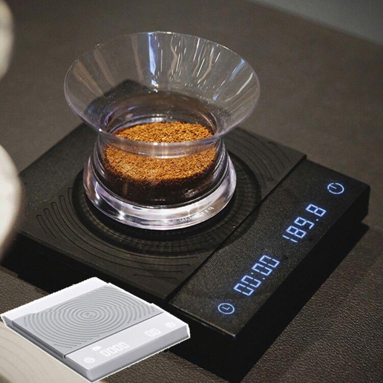 타임모어 커피 저울 핸드드립 바리스타 카페 계량저울, 블랙