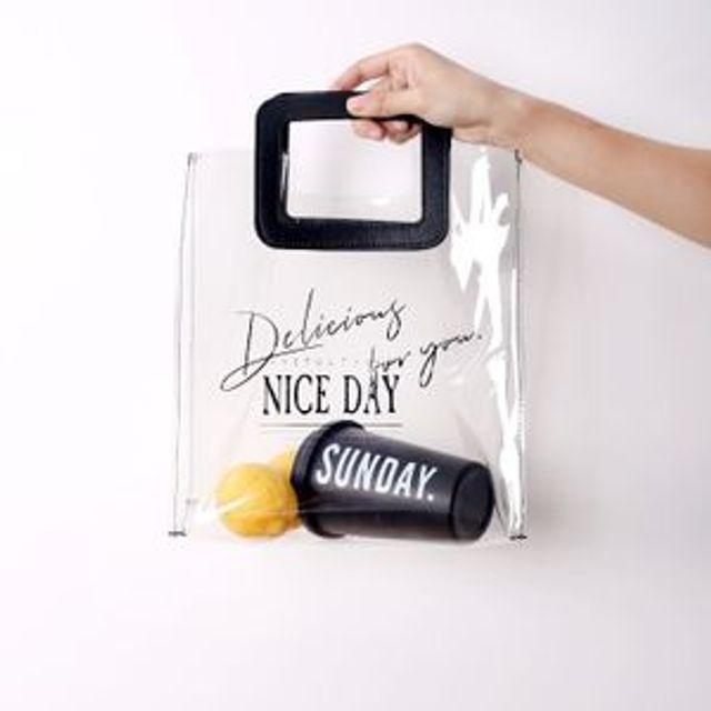 사각 손잡이 PVC 투명백 토트백 ( 30대 20대 여자가방 브랜드 W5F32C3)
