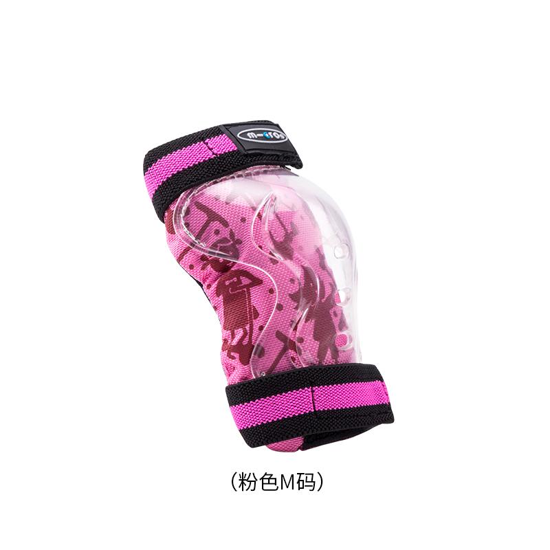 스위스 마이크로 킥보드 악세사리 Migumi 어린이 스쿠터 보호 기어 세트 풀리 보호 장치 세트 무릎 패드 및 팔꿈치 패드 두껍게, 핑크 M 코드