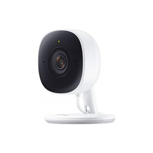 삼성 SmartThings 실내 보안 카메라 (GP-U999COVLBDA) HDR 야간 투시경 고급 모션 감지 및 양방향 오디오를 지원하는