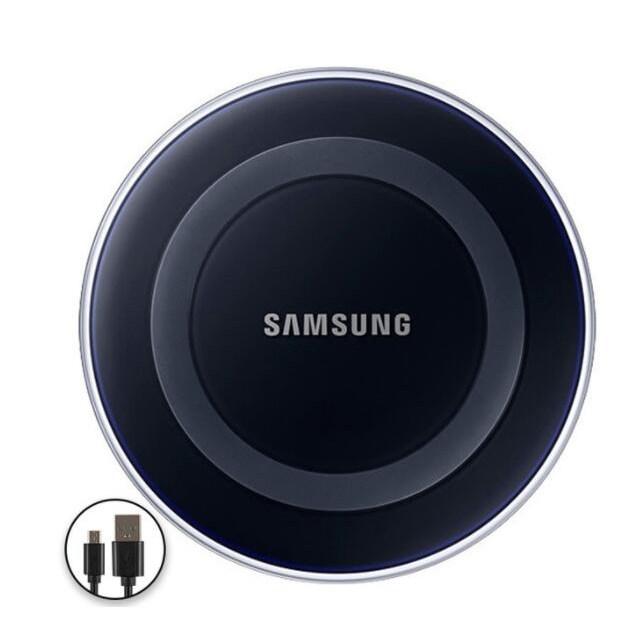 갤럭시 S6 S6 가장자리 S7 S7 가장자리 S8 S8 + S9 S9 + IPHONE 8/11 X XR XS XS MAX를위한 본래 SAMSUNG 무선 충전기 QI 책임 패드, Black (POP 5702867689)