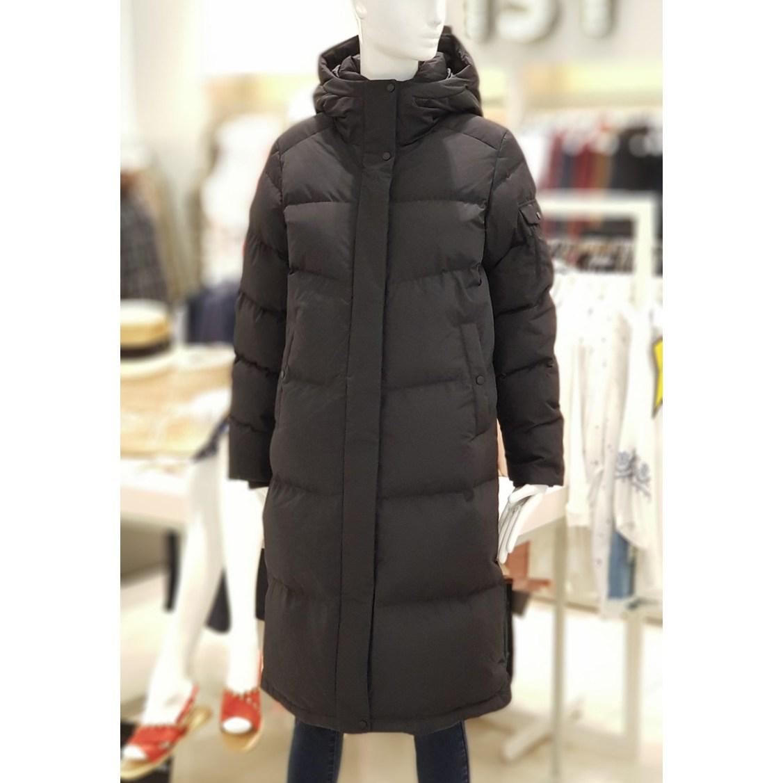 [리스트] 추운겨울 한파에 따뜻하게 편안하게 데일리로 입을 수 있는 후드 오리털 덕다운 롱 패딩 BK