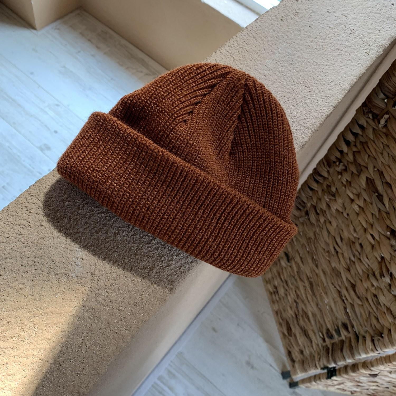 비니 달팽이 기어다니기 집/단색 코디하기쉬운 니트 가을겨울 풀오버 라운드헤드