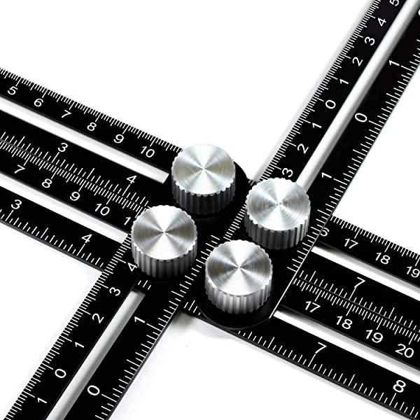 [미국] Wondruz Multi Angle Measuring Ruler Premium Aluminum Alloy Ultimate 836 Template Tool/Layout T