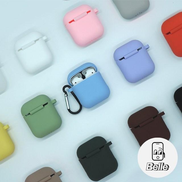 애플 에어팟 2세대 Belle 실리콘 케이스, 라이트블루