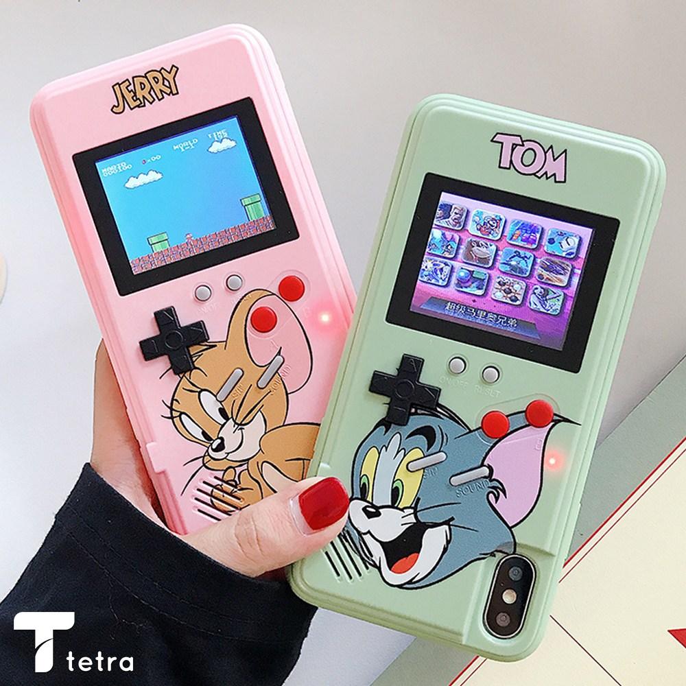 오늘은 [HP045_TE] 애플 아이폰 전기종 캐릭터 컬러 게임기 케이스 추억의 고전게임 36종 내장 휴대폰