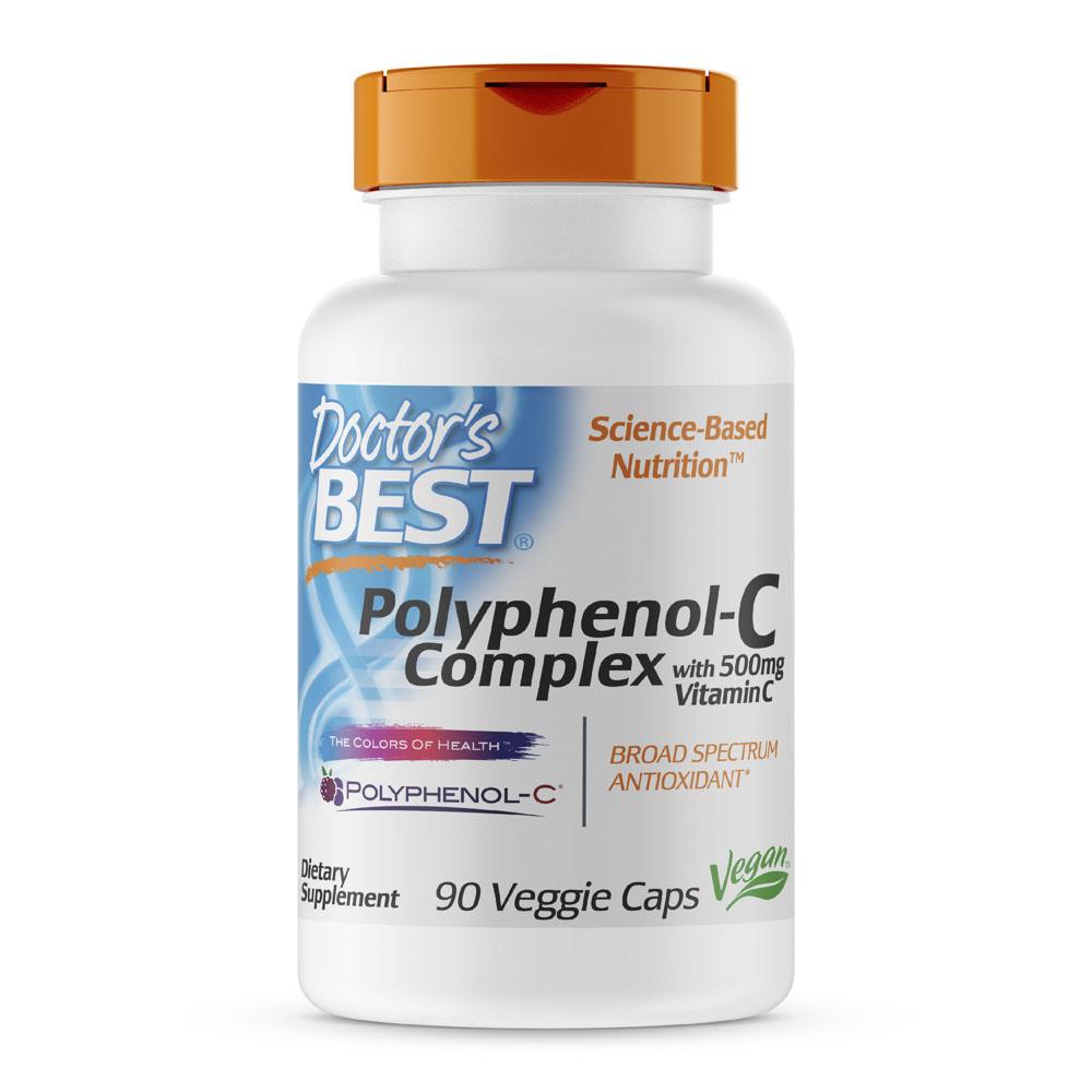 닥터스베스트 폴리페놀-C 컴플렉스 비타민 C 500mg 포함 베지 캡 비건, 90개입, 1개