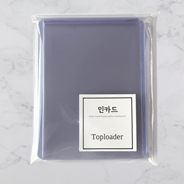 인카드 포카 포토카드 탑로더 투명 일반 울트라 클리어 7.7cm x 10.1cm 10개세트 포켓몬카드 보관 케이스 탑꾸 포꾸