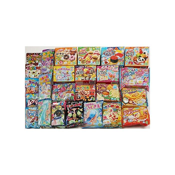Kracie DIY Candy Gummy Making Kit Poppin Cookin 25 pcs Set 2016 April (Pudding Parfait Hamburger Bento...), One Color, One Size