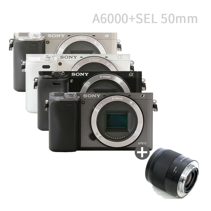 소니 A6000바디+SEL50 F1.8 미러리스카메라, A6000바디(블랙)SEL50 F1.8