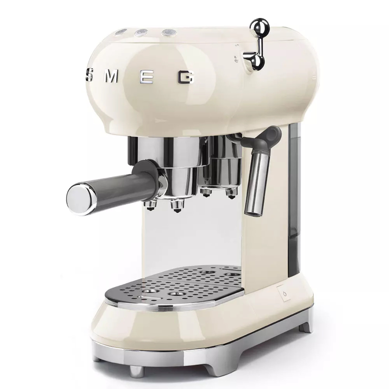 커피머신 SMEG ECF01수입 작은사치 에스프레소 커피기계 반자동 증기식 소형, T01-버터 색