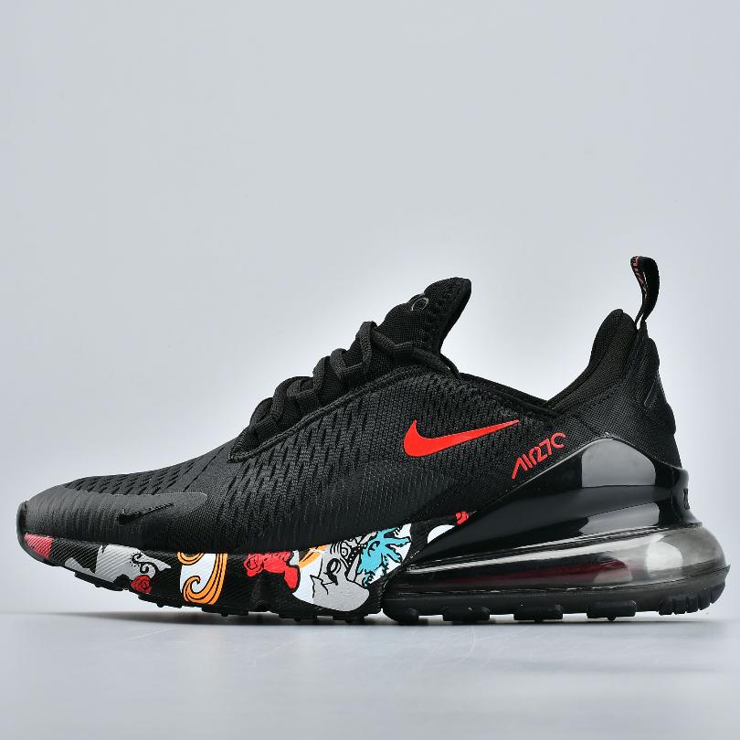 나이키 Nike Air Max 270모든 검은 색과 빨간색 진드기 AH8050-009