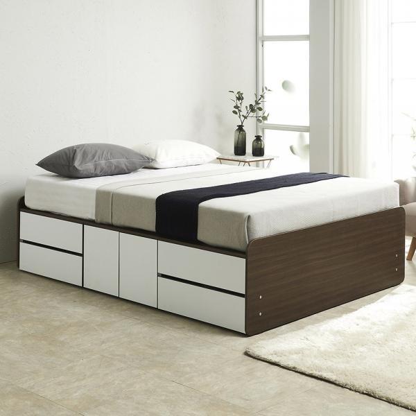 [도건몰] 높은 2단 도어중앙형 침대 퀸 독립 매트리스 _1910801EA