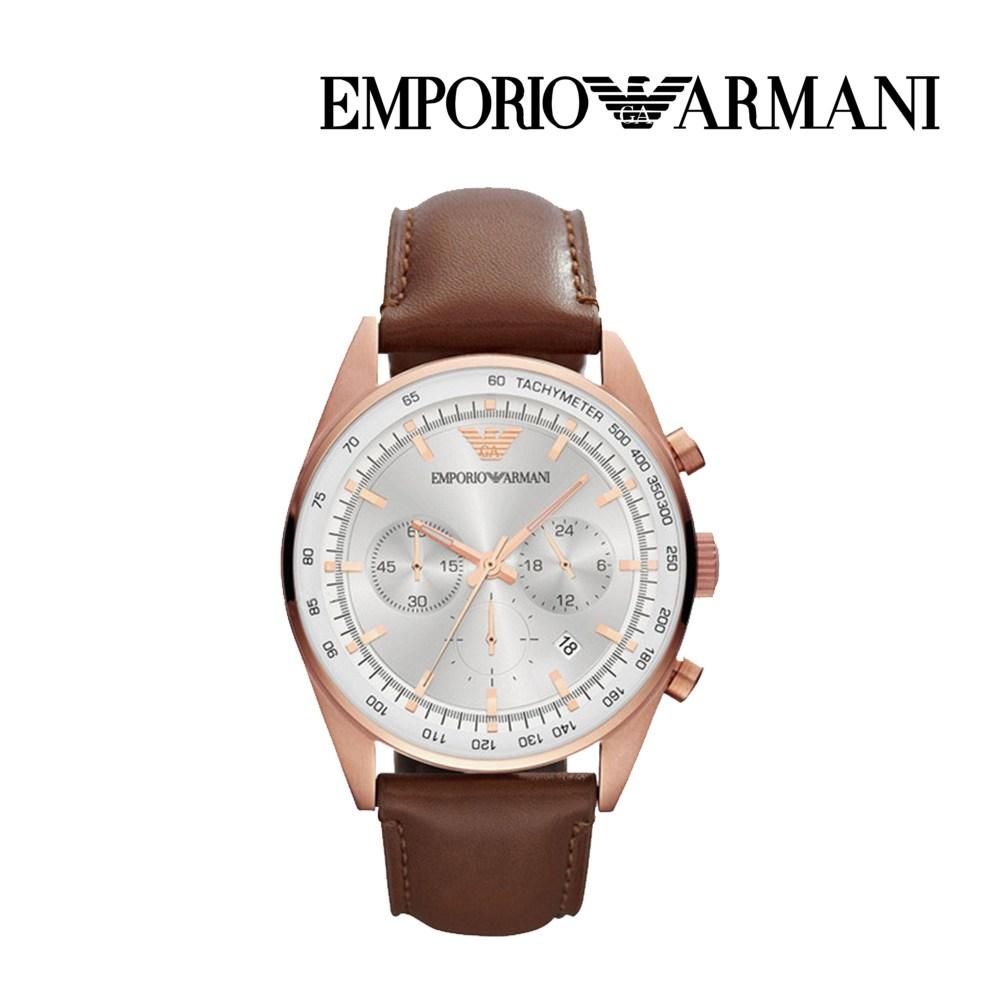 엠포리오 아르마니 남자 가죽 손목시계 AR5995