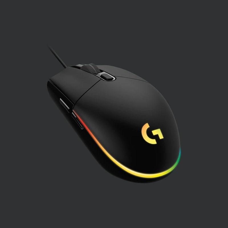 Logitech New G102 LIGHTSYNC 게이밍 마우스 G102 2G RGB 스 트리머 효과 PC 마우스 게이머 게임용 새로운 업그레이드, 블랙