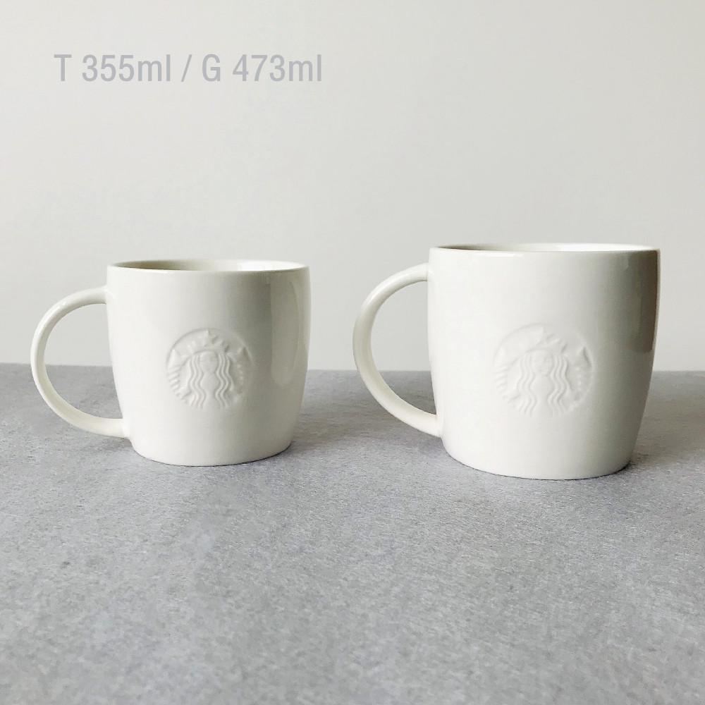 북미 스타벅스 세라믹 머그컵 특별한 찻잔 세라믹 커피컵 물컵, 매장 컵 355ML+473ML  세트