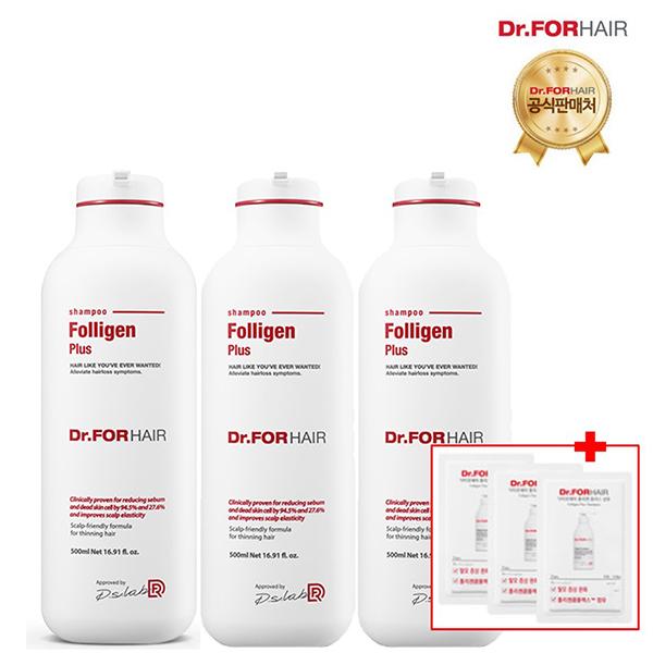 (무료배송)닥터포헤어 폴리젠 플러스샴푸 500mlX3개, 단일상품