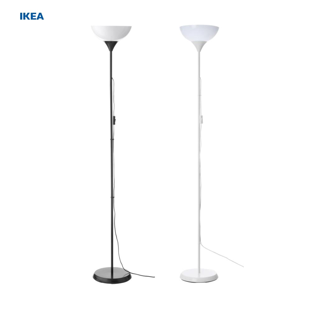 이케아 NOT 플로어스탠드 + 이케아 LED 전구 무료배송 [이케아정품], 블랙