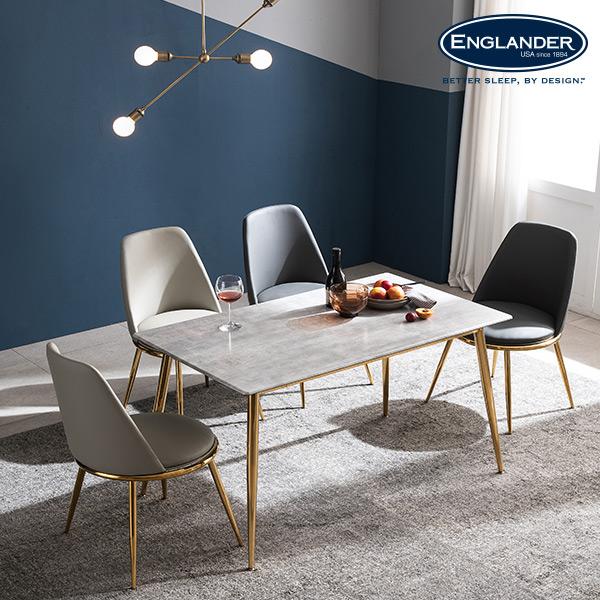 잉글랜더 브레아 RB세라믹 4인용 식탁 세트 의자4(CB), 그레이(다크그레이+라이트그레이)