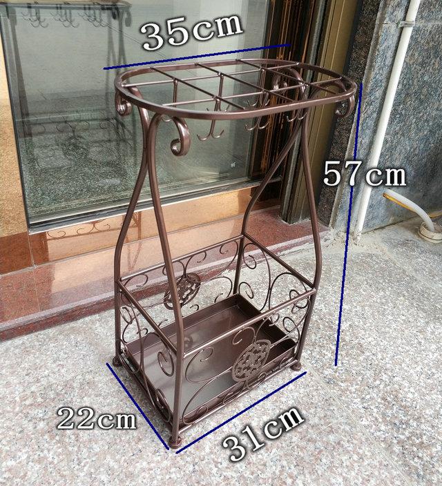 엔틱 철제 우산꽂이 카페 사무실 빈티지 우산보관함, 브론즈개