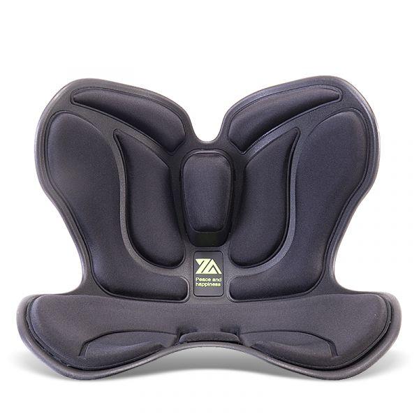 꽃잎형 일본 커블 손연재 와이더 체어 허리 보조 척추 좌식 의자, 파란색