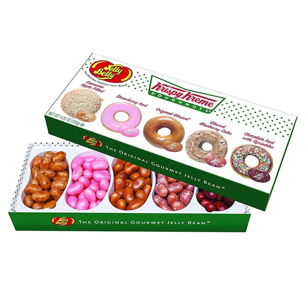 Jelly Belly Doughnuts Beans 젤리벨리 크리스피 크림 도넛 젤리 빈 5가지 맛 선물 상자 4.25oz 120g, 1개
