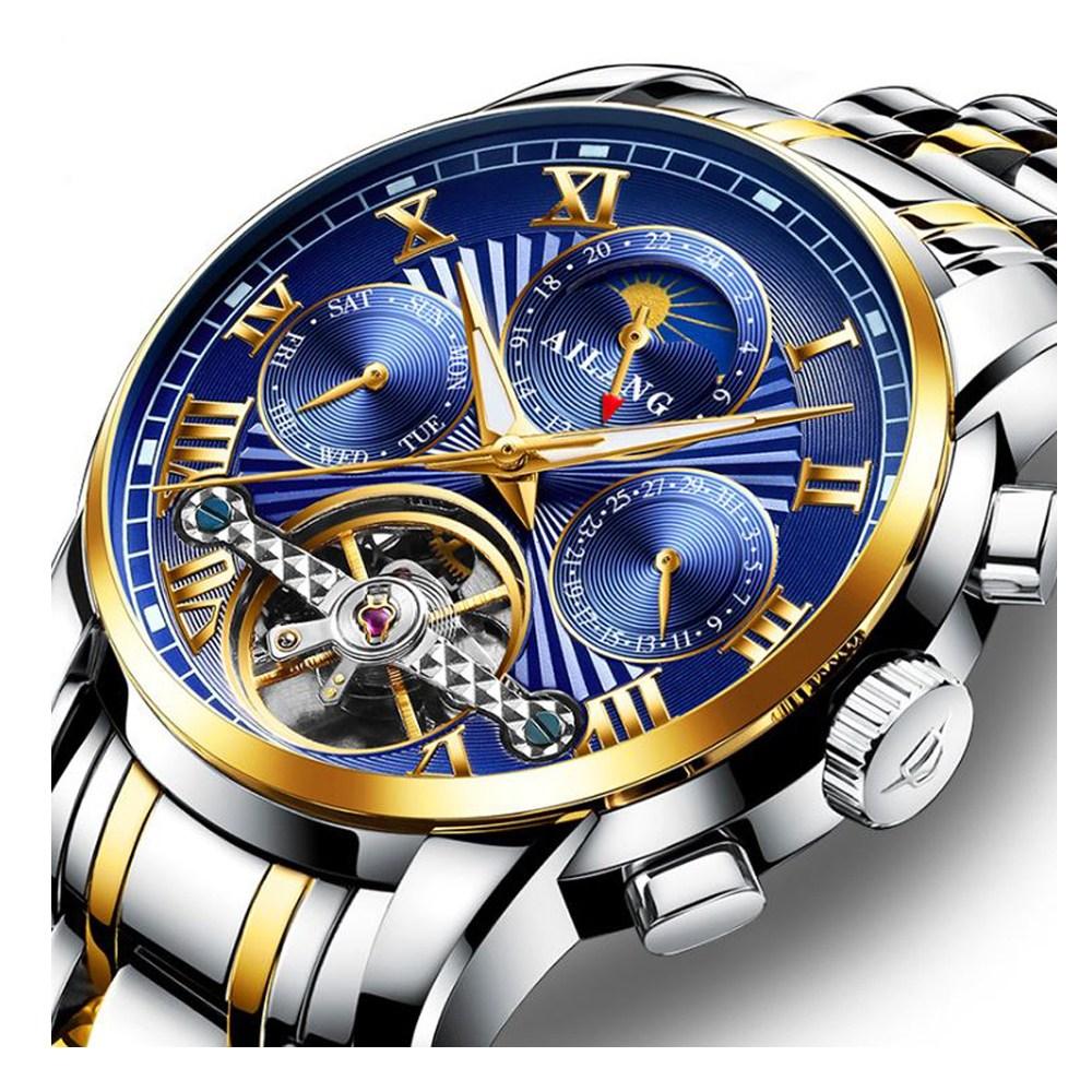 바바존 남자시계 오토매틱시계 문페이즈 손목시계 남성시계 메탈시계 가죽시계 명품시계 85