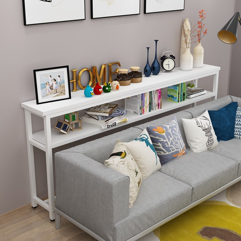 거실 소파 후면 선반 바닥 쇼파뒤책장 폭좁은 한뼘테이블 침대뒤 틈새 선반 테이블, 사용자 정의 크기